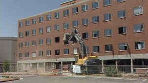 Cottonwood Hospital being torn down.