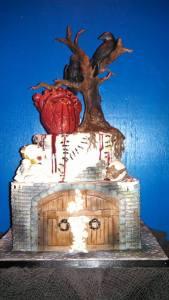 The Poe Cake By: BakemeaKake.com