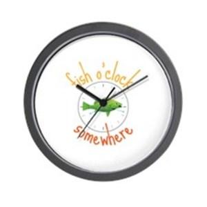 fish_oclock_somewhere_wall_clock